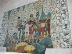 Millard Sheets mural on US Bank, Claremont