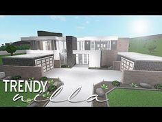 ♡OPEN ME idk why i called this trendy tbh im out of names i wanted to make something ultra modern but still kinda cozy so i did this! Modern Family House, Family House Plans, Home Building Design, Building A House, House Design, House Layout Plans, House Layouts, Luxury House Plans, Luxury Houses
