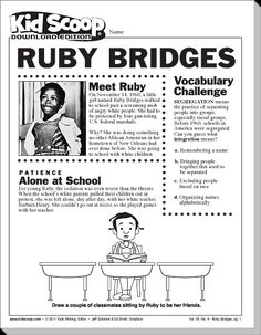 Ruby bridges printable timeline search results for Ruby bridges coloring pages
