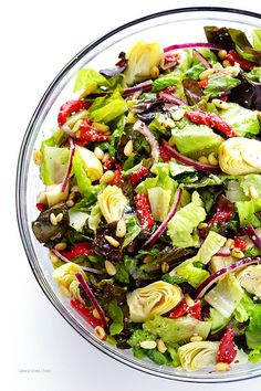 "<p>Recipe: <a href=""http://www.gimmesomeoven.com/our-familys-favorite-salad/"" target=""_blank"">Our Family's Favorite Salad</a></p>"