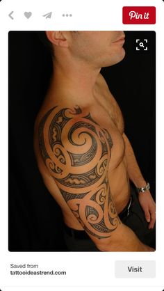"""uncondensed"" Maori Shoulder Tattoo on David by Shane Gallagher Coley, currently working @ Chapel Tattoo, Melbourne, Australia Koru Tattoo, Maori Tattoo Frau, Ta Moko Tattoo, Maori Tattoos, Tatuajes Tattoos, Maori Tattoo Designs, Marquesan Tattoos, Tattoo On, Polynesian Tattoos"