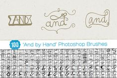 Check out 100 'And by Hand' PS Brushes by Friskweb on Creative Market