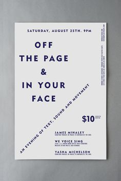 Off The Page & In Your Face