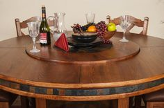 60 Round Table With Lazy Susan Dining Room Large