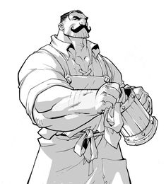 ArtStation - Battle Chasers: Night War NPCs, Joe Madureira Strong Character, Character Poses, Character Design References, Character Drawing, Joe Madureira, Comic Drawing, Guy Drawing, Drawing Faces, Drawing People