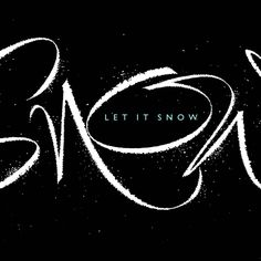 After one of the warmest Christmases in years, let it snow! Let It Snow, Let It Be, Brush Type, Hand Lettering, Instagram Posts, Calligraphy, Lettering, Handwriting, Calligraphy Art