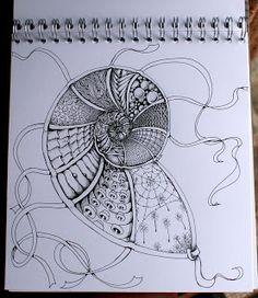 Zentangle van Deborah. Volg de blog van Sisters in Art!