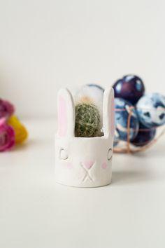 DIY Easter Bunny Cactus Planter | Fall For DIY