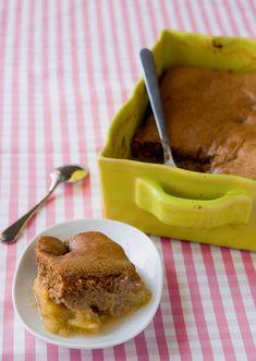 Pudding pomme-rhubarbe et gingembre confit