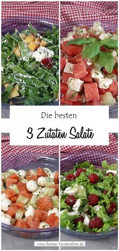 Die besten 3 Zutaten Salate #Salat #Bowls Low Carb Recipes, Healthy Recipes, Healthy Food, Easy Peasy, Cravings, Avocado, Lchf, Good Food, Favorite Recipes