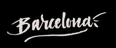 Barcelona! calligraphy