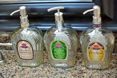 Crown Royal Soap Dispenser is such a fun way to add to your bathroom decor!  Get yours from #LookingSharpCactus on Etsy www.etsy.com/shop/lookingsharpcactus