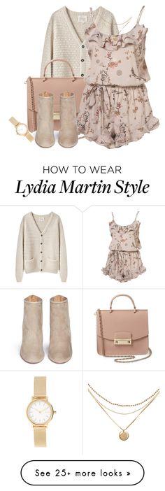 """Lydia Martin Inspired"" by halesmarshall on Polyvore featuring La Garçonne Moderne, Furla, Aquazzura and Skagen"