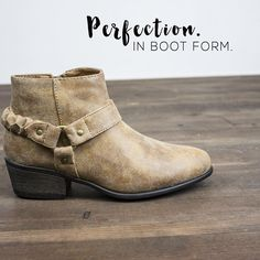 ••NEW•• step into fall with this perfect little bootie! $31. Available in sizes 5.5-10 (excluding 8.5 and 9.5) Order via social shop or come in and see us!