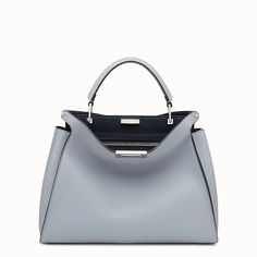 8071f8aca4 FENDI PEEKABOO ESSENTIAL - Slate and dark blue leather handbag - view 1  detail