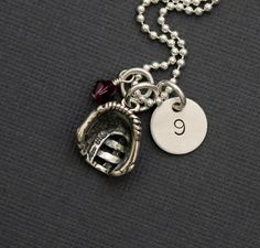 diy baseball crafts | baseball baseball softball necklace hand stamped sterling silver by ...