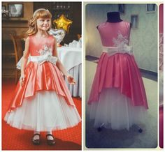 0168 Crew Lace Sash Ball Gown Satin Ankle Length Baby Girl Birthday Party Christmas Dresses Children Girl Party Dresses Flower Girl Dresses Online with $48.61/Piece on Weddingmall's Store | DHgate.com