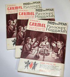 Jewish Passover Haggadah Prayer Books Vtg Carmel Kosher Wine Advertising