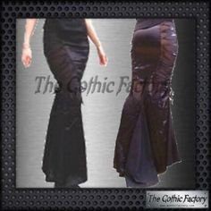 Kates Clothing Satin and Net Gothic Fishtail Skirt