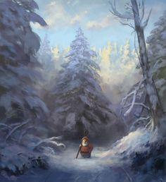 Snowy gnome by ~JonasJensenArt
