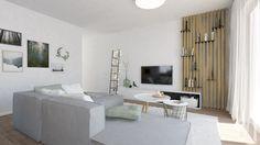 Svetlá obývačka Police, Divider, Indoor, Table, Room, Furniture, Design, Home Decor, Interior