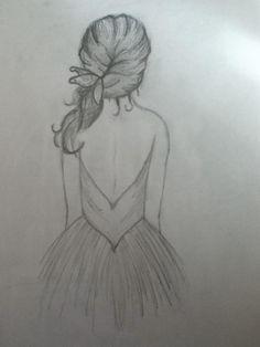 Pin by kavya gajjar on drawings Tumblr Sketches, Girl Drawing Sketches, Tumblr Drawings, Pencil Art Drawings, Drawing Tips, Cute Drawings, Easy Drawings Of Girls, Pencil Sketches Easy, Art Du Croquis