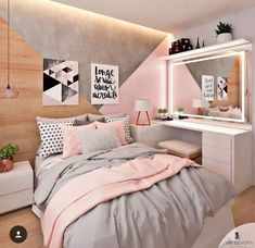 50 pink bedroom decor that you can try for yourself .- 50 rosa Schlafzimmer Dekor, das Sie selbst ausprobieren können 50 pink bedroom decor that you can try for yourself out - Pink Bedroom Decor, Room Ideas Bedroom, Bedroom Themes, Dream Bedroom, Pastel Bedroom, Bedroom Decor Ideas For Teen Girls, Teen Bedroom Colors, Bedroom Small, Bedroom Decor For Teen Girls Dream Rooms