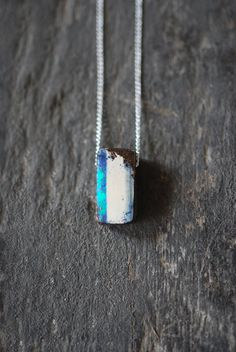 Raw Boulder Opal Pendant by dollybirddesign on Etsy