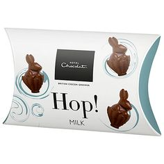 Fun #packaging design on the #Easter bunnies milk chocolate from Hotel Chocolat.