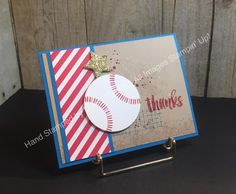 Stampin' Fun with Diana: SSINKspiration Red, White, and Blue: Baseball Fun