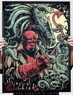 Hellboy by Godmachine - Art from Bottleneck Gallery's Gizmos and Gadgets Show