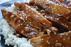 Teriyaki Chicken and Rice Bowls - made this tonight and it was a huge hit!  Can be made in the crock pot, on the stove top, or put together as a freezer meal.  Super yum.  :)