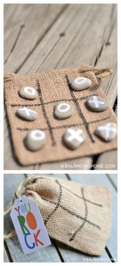tic tac toe craft activity. Great gift or quiet activity for summer. Kid crafts and summer games. (Diy)