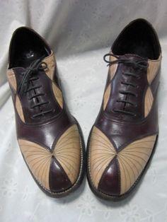 1920s men's Art Deco shoes, 2 pairs