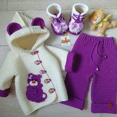 New Crochet Baby Girl Patterns Ganchillo Ideas Baby Girl Patterns, Baby Knitting Patterns, Crochet Patterns, Baby Cardigan, Baby Vest, Crochet For Kids, Knit Crochet, Knitted Baby, Crochet Doilies