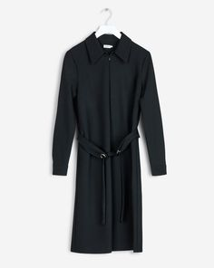 Shirt Zip Dress Black - New: Early Autumn - Shop Woman - Filippa K