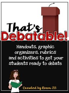 This package serves as an introduction to debate and contains:This file includes:-Detailed handouts for your students that explain debating definitions, procedures and ideas for planning.-Graphic organizers to help students as they plan and research their debates.-Two pre-debating activities you can use to allow your students to practice their debating skills.-A list of debate topics that have been successful in my classroom.