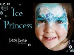 ▶ Ice Princess - YouTube..  for a quick version just use the design along eyes and nose.