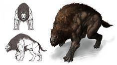 Castlevania Warg Werewolf Werewolves Mythical Creatures Art, Alien Creatures, Fantasy Creatures, Monster Concept Art, Monster Art, Creature Concept Art, Creature Design, Werewolf Art, Fantasy Beasts