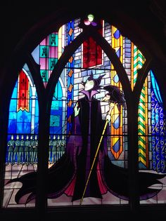 Disneyland Paris stained glass window