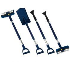 Winter Cleaning Set 5tlg. blau/schwarz Shovel, Garden Tools, Outdoor, Matcha Whisk, Winter Time, Black, Blue, Outdoors, Dustpan