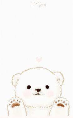 Cute Cartoon Drawings, Cute Animal Drawings, Kawaii Drawings, Cute Disney Wallpaper, Kawaii Wallpaper, Cute Cartoon Wallpapers, Bear Wallpaper, Animal Wallpaper, Iphone Wallpaper