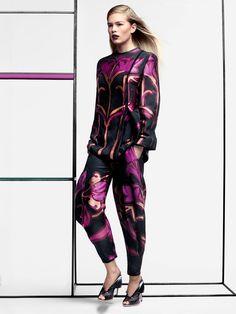 Geometric Floral Fashion Editorials : Vogue US March 2014