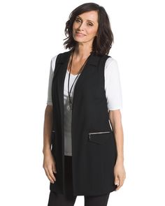 Chico's Long Modern Vest #chicos