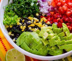 Kale Salad Recipes, Chicken Salad Recipes, Raw Food Recipes, Food Network Recipes, Mexican Food Recipes, Vegetarian Recipes, Cooking Recipes, Healthy Recipes, Skinny Recipes