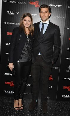 """Olivia Palermo and Johannes Huebl  attend the premiere of """"Stand Up Guys"""" hosted by The Cinema Society with Chrysler and Bally at MOMA on December 9, 2012 in New York City."""