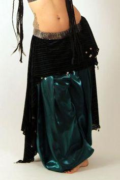 Tribal Belly dance Skirt Silver Beauty Barock 100/% Cotton