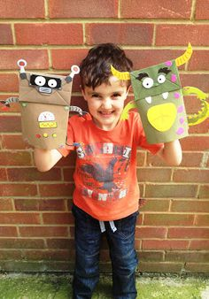 Paper Bag Puppet #Craft for #Kids