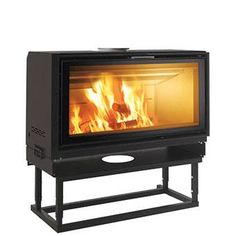Edilkamin - Screen Up 100 Stove, Home Appliances, House Design, Wood, Warming Up, Stoves, Fire Places, Fire, Sevilla
