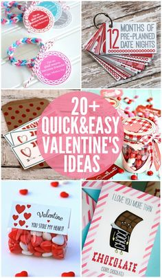 20+ Quick AND Easy Valentine's Ideas just in case you're running short on time this Valentine's season! { lilluna.com }
